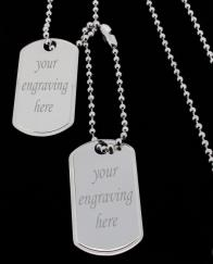 Large 925 Sterling Silver Personalised Double Dog Tags photo 1