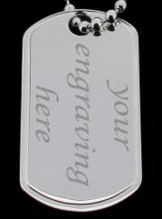 Large 925 Sterling Silver Personalised Double Dog Tags photo 3