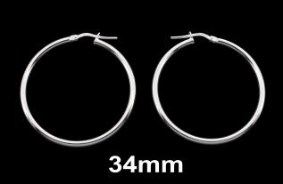 Hinged Hoop Sleeper Earrings 34mm