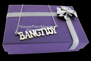 Sterling Silver Small Hip Hop Ban Tidy Name Necklace