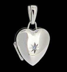 Sterling Silver heart Picture Locket photo 1