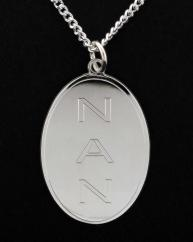 Oval Dog Tag Pendant & Chain photo 1