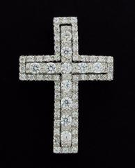 CZ Set 2 in 1 Cross CZ Set 2 in 1 Cross Pendant (Cubic Zirconia gems) photo 1