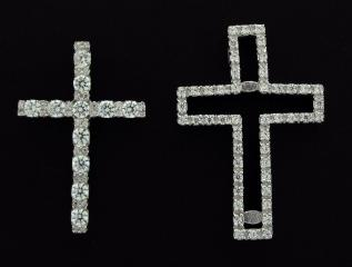 CZ Set 2 in 1 Cross CZ Set 2 in 1 Cross Pendant (Cubic Zirconia gems) photo 2