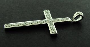 CZ Set Cross (Cubic Zirconia gems) photo 2