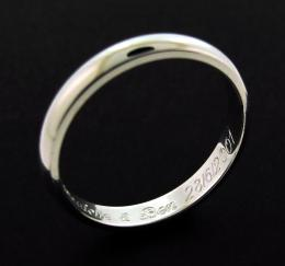 Sterling Silver 3mm D shape Wedding Band photo 1