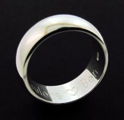 Sterling Silver 8mm D shape Wedding Band photo 1