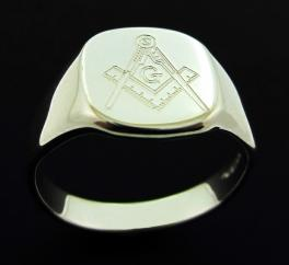 Sterling Silver Masonic Ring photo 1