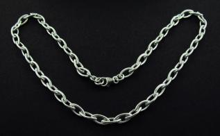 Sterling Silver Marquise Link Necklace