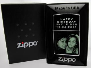 Stainless Steel Photo Engraved Windproof Zippo Lighter photo 1