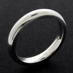 Sterling Silver 3mm Court shape Wedding Band photo 1