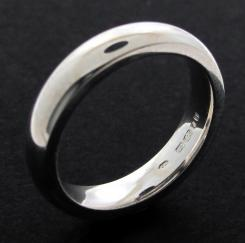 Sterling Silver 4mm Court shape Wedding Band photo 1