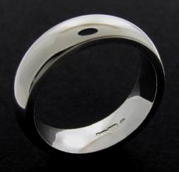 Sterling Silver 6mm Court shape Wedding Band photo 1