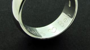 Sterling Silver 8mm Court shape Wedding Band photo 2