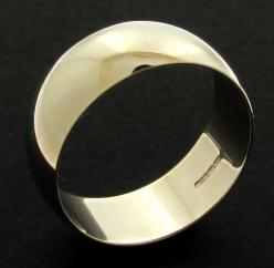 9ct Yellow Gold 8mm D shape Wedding Band photo 1