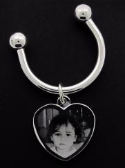 Stainless Steel Photo Engraved Ladies Key Ring photo 1