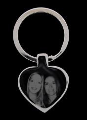 Stainless Steel Photo Engraved Ladies Lost & Found Key Ring photo 1