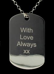 Large Sterling Silver Personalised Photograph Engraved Dog Tag photo 2