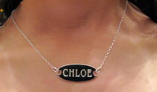 Sterling Silver Oval Personalised Name Tag photo 2