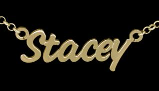 Personalised Challenge Baby Style 9ct Gold Plated Name Necklace