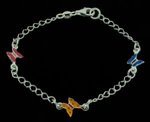 Sterling Silver Ladies Charm Bracelet photo 1