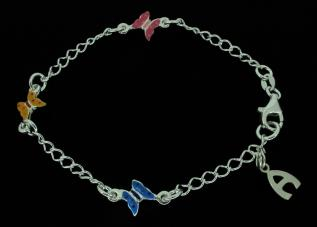 Sterling Silver Ladies Charm Bracelet photo 2