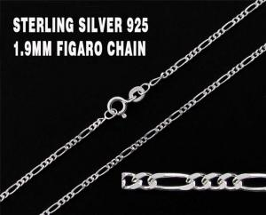 0.925 Sterling Silver Figaro Style Chain
