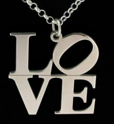 Sterling Silver Small Love Pendant