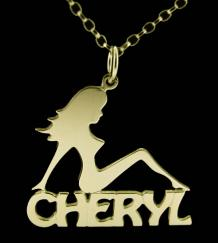 Mud Flap Girl Name Necklace