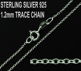 925 Sterling Silver 1.2mm Trace Chain