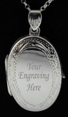 Large Sterling Silver Oval Picture Locket photo 4