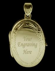 Large 9ct Gold Plated on Sterling Silver Oval Picture Locket photo 4