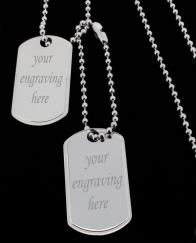 925 Sterling Silver Personalised Double Dog Tags photo 1