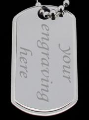 925 Sterling Silver Personalised Double Dog Tags photo 3