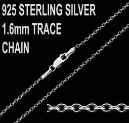 925 Sterling Silver 1.6mm Trace Chain